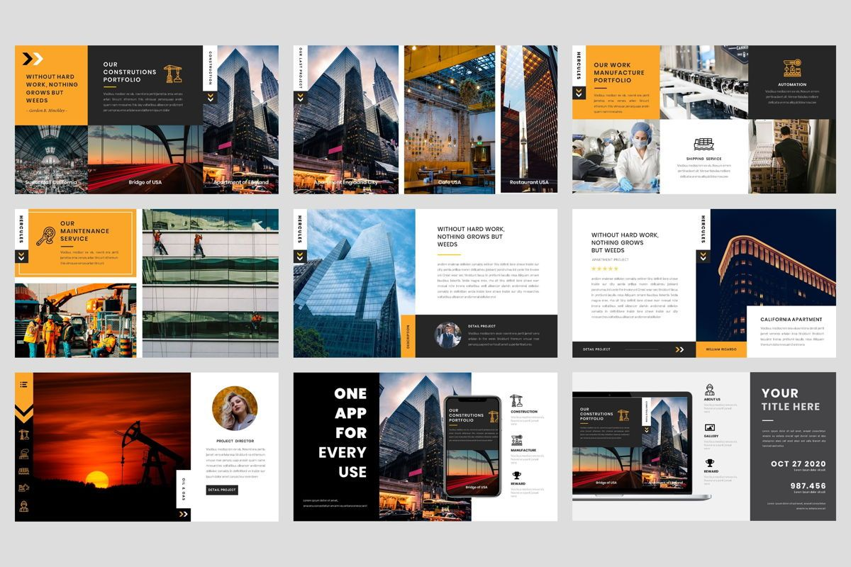 Industrial - Factory Keynote Template, Folie 4, 04426, Business Modelle — PoweredTemplate.com