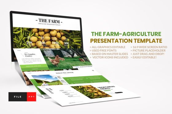 Business Models: Farm - Agriculture PowerPoint Template #04428