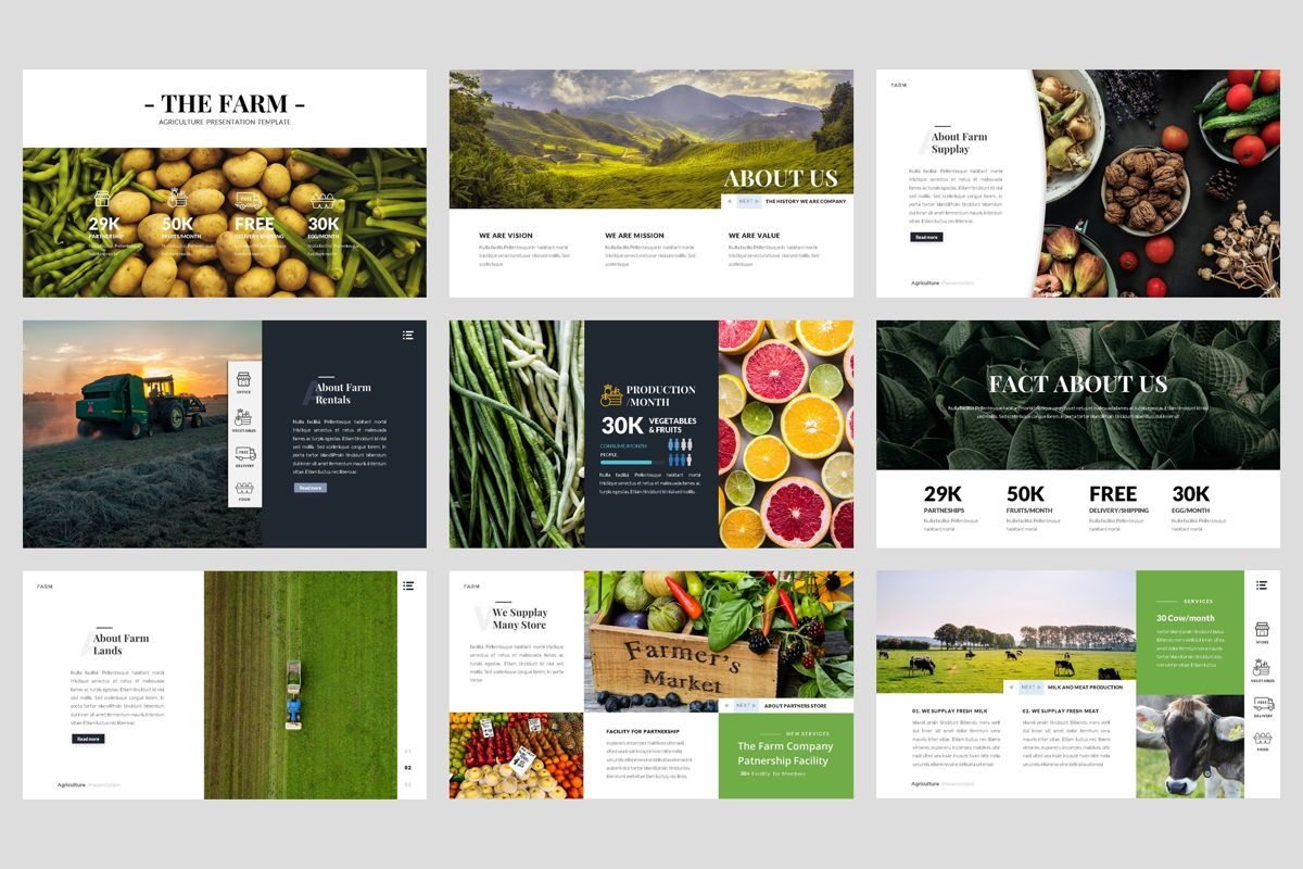 Farm - Agriculture PowerPoint Template, Slide 2, 04428, Business Models — PoweredTemplate.com