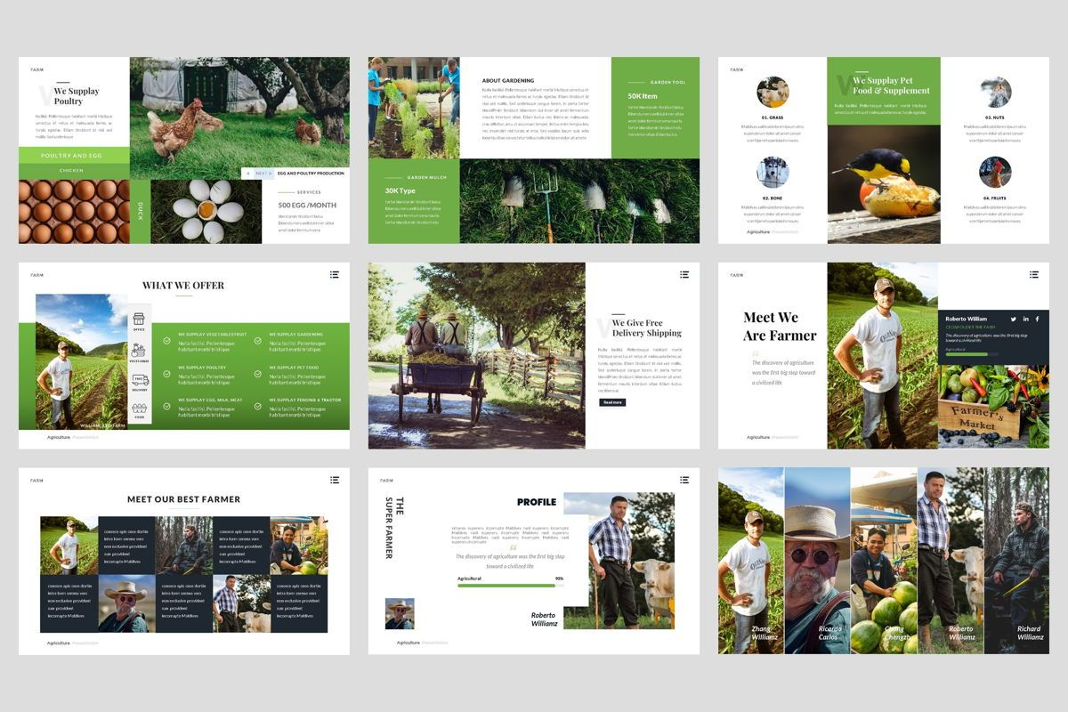 Farm - Agriculture PowerPoint Template, Slide 3, 04428, Business Models — PoweredTemplate.com