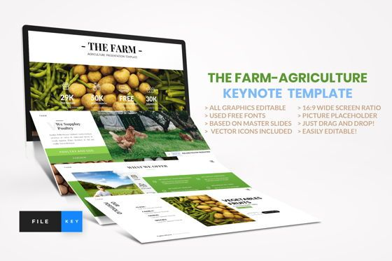 Business Models: Farm - Agriculture Keynote Template #04429