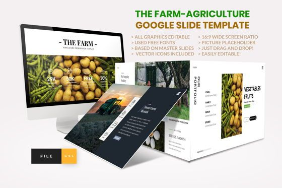 Presentation Templates: Farm - Agriculture Google Slide Template #04430