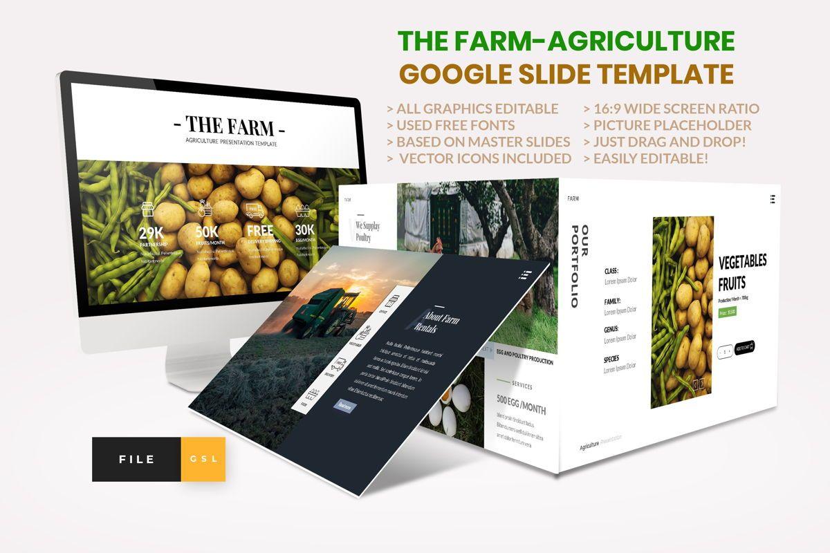 Farm - Agriculture Google Slide Template, 04430, Presentation Templates — PoweredTemplate.com