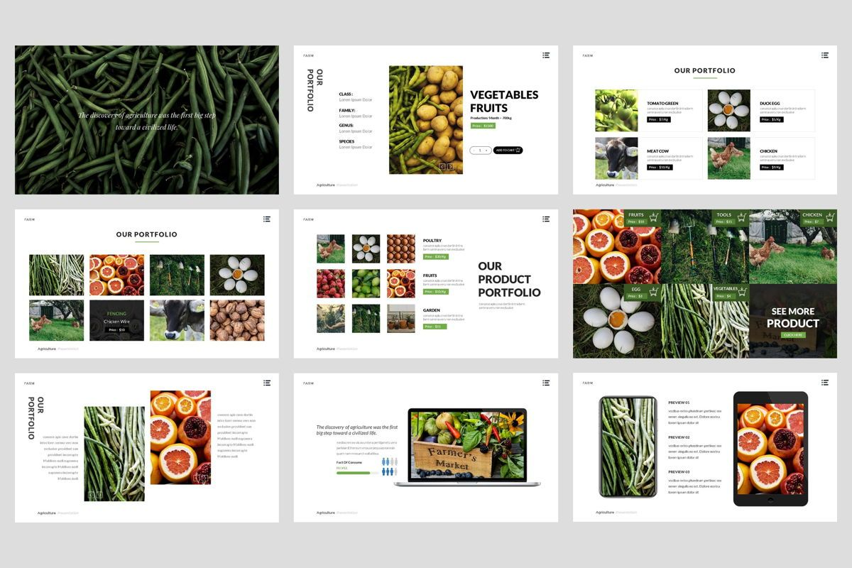 Farm - Agriculture Google Slide Template, Slide 4, 04430, Presentation Templates — PoweredTemplate.com