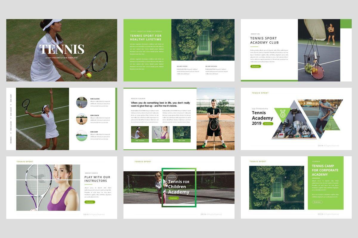 Tennis - Sport PowerPoint Template, Slide 2, 04431, Business Models — PoweredTemplate.com
