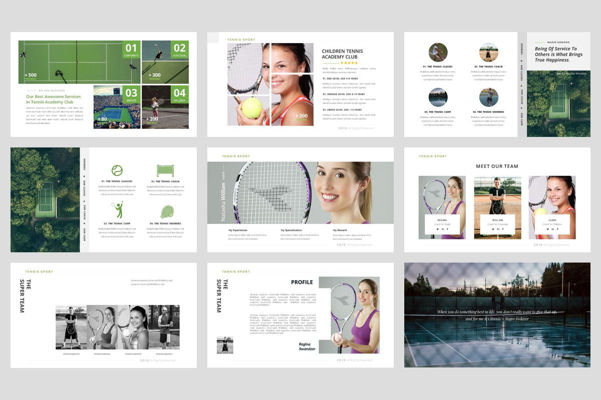 Tennis - Sport PowerPoint Template, Slide 3, 04431, Business Models — PoweredTemplate.com