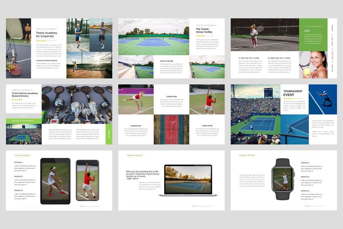 Tennis - Sport PowerPoint Template, Slide 4, 04431, Business Models — PoweredTemplate.com