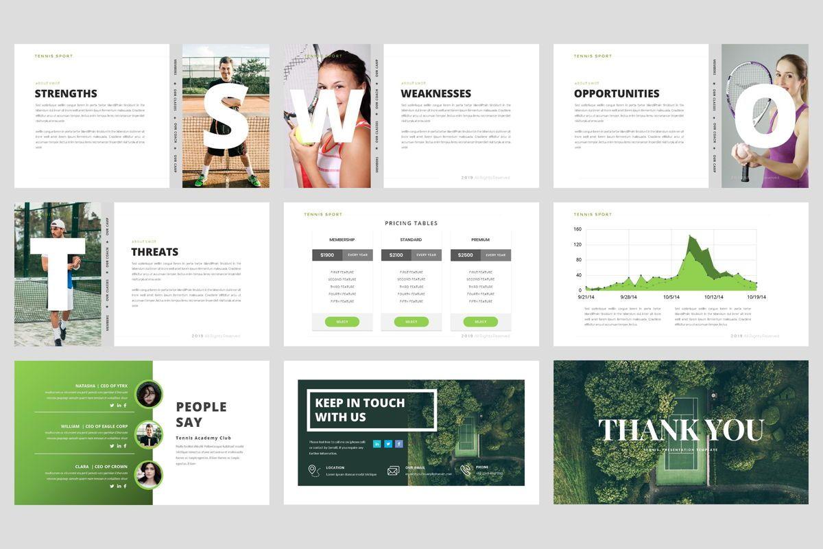 Tennis - Sport PowerPoint Template, Slide 5, 04431, Business Models — PoweredTemplate.com