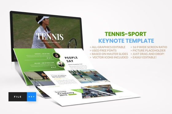 Business Models: Tennis - Sport Keynote Template #04432