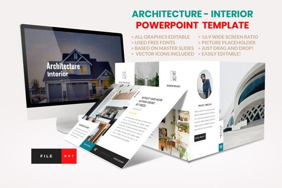 Business Models: Architecture - Interior PowerPoint Template #04434
