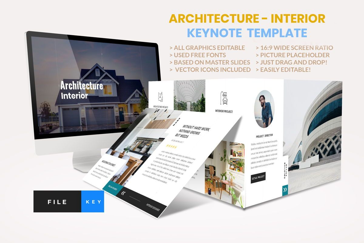 Architecture - Interior Keynote Template, 04435, Business Modelle — PoweredTemplate.com