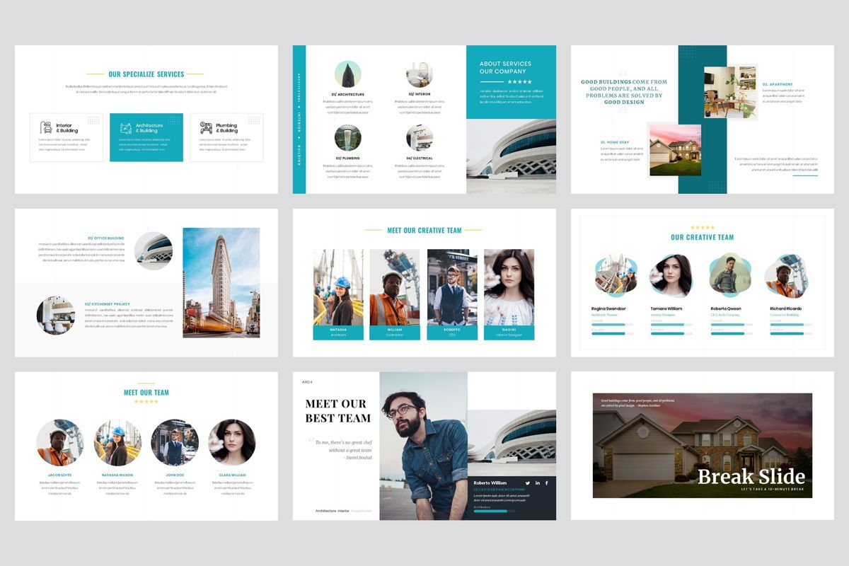 Architecture - Interior Keynote Template, Folie 3, 04435, Business Modelle — PoweredTemplate.com