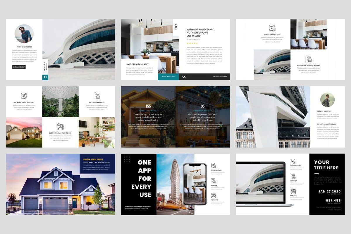 Architecture - Interior Keynote Template, Folie 4, 04435, Business Modelle — PoweredTemplate.com