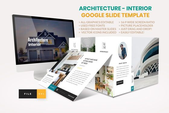 Business Models: Architecture - Interior Google slide Template #04436