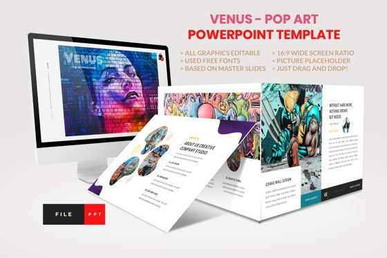 Business Models: Pop Art - Creative PowerPoint Template #04437