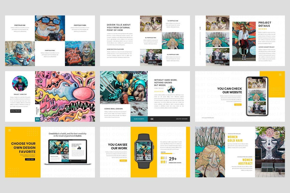 Pop Art - Creative PowerPoint Template, Slide 4, 04437, Business Models — PoweredTemplate.com