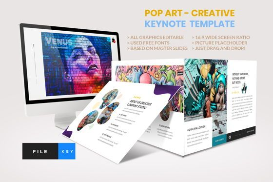 Business Models: Pop Art - Creative Keynote Template #04438