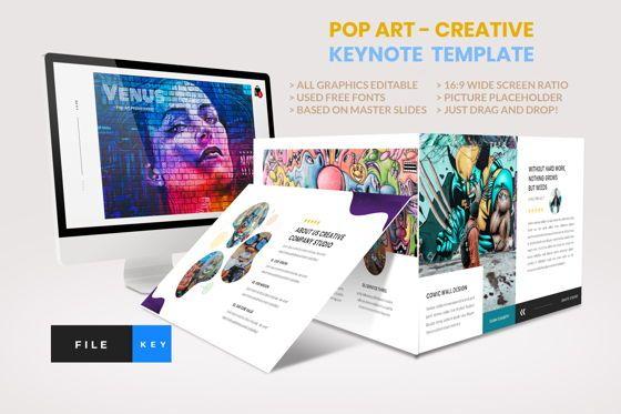 Business Models: Pop Art - Creative Keynote Template #04438