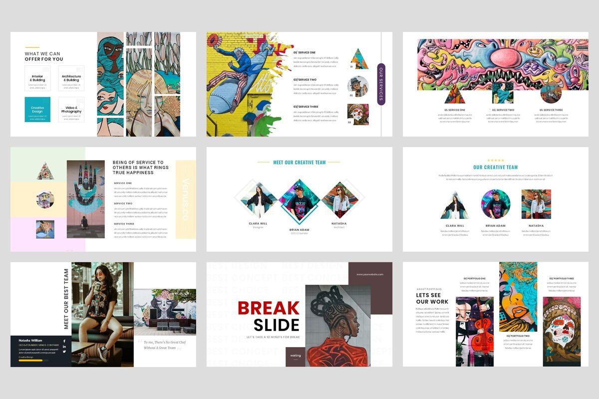 Pop Art - Creative Keynote Template, Slide 3, 04438, Business Models — PoweredTemplate.com