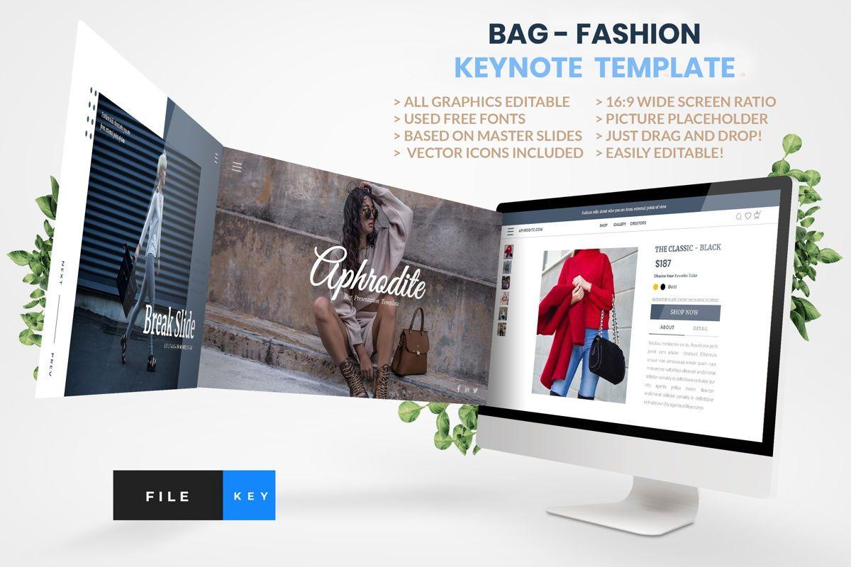 Bag - Fashion Keynote Template, 04441, Presentation Templates — PoweredTemplate.com