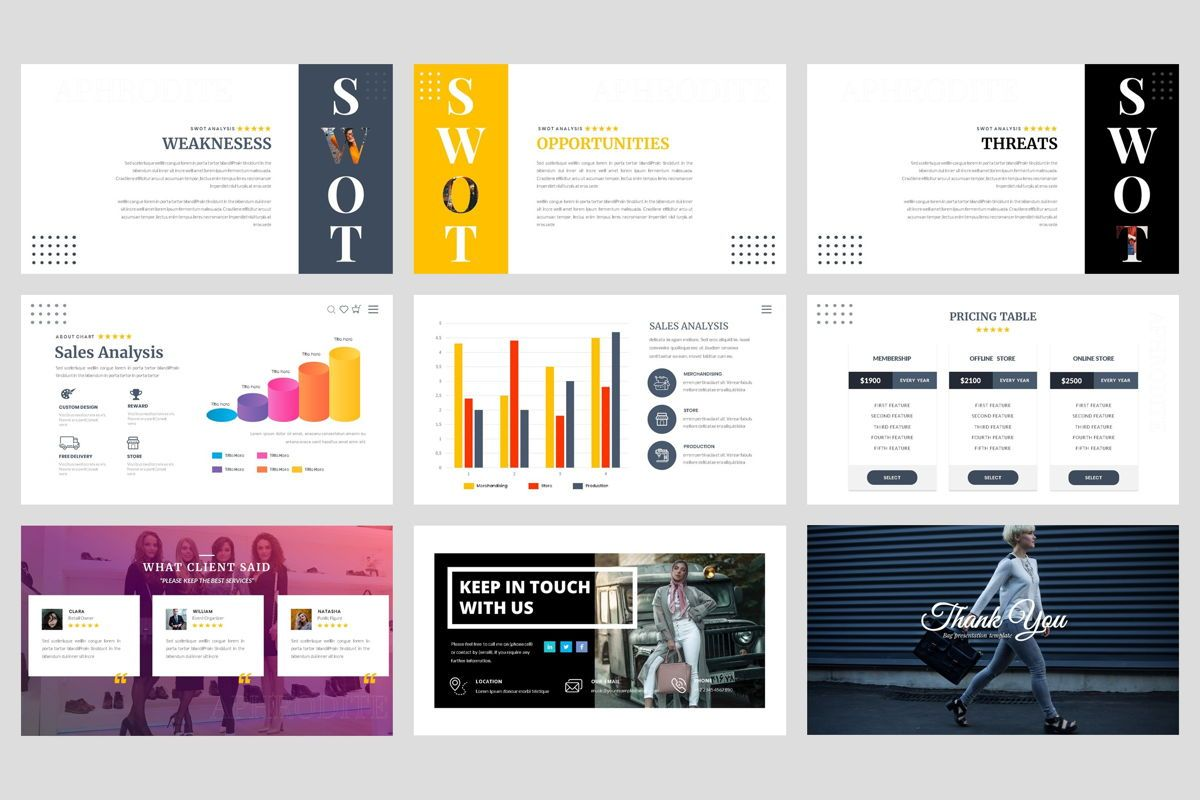 Bag- Fashion Google Slide Template, Folie 5, 04442, Business Modelle — PoweredTemplate.com