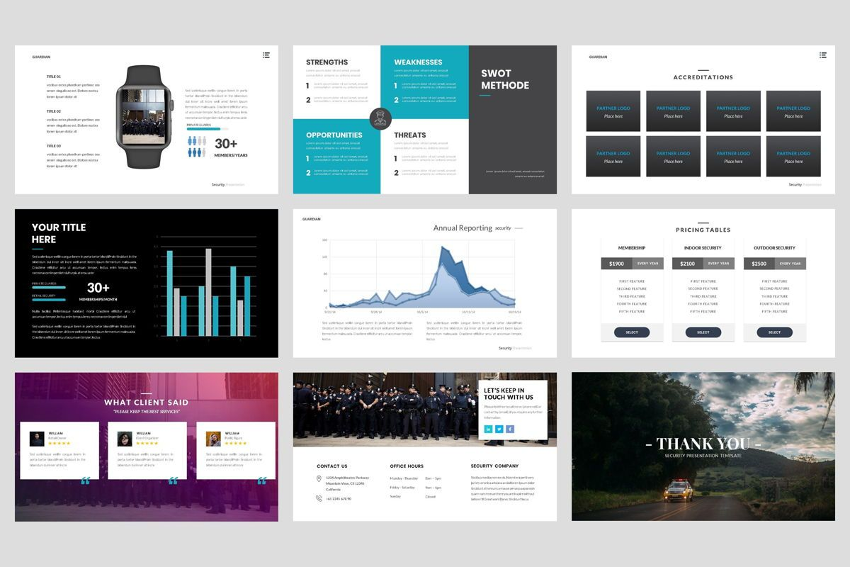 Guardian - Security PowerPoint Template, Slide 5, 04443, Business Models — PoweredTemplate.com