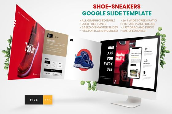 Business Models: Shoe - Sneakers Google Slide Template #04448