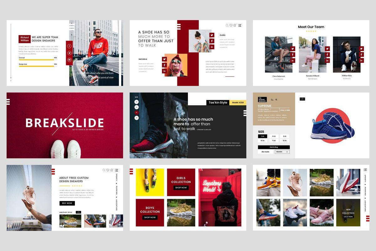Shoe - Sneakers Google Slide Template, Folie 3, 04448, Business Modelle — PoweredTemplate.com