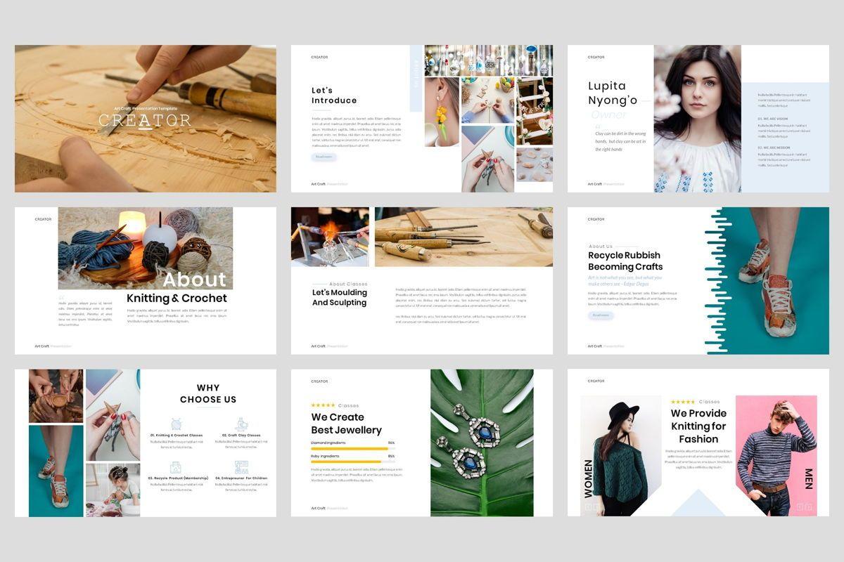 Creator - Art Craft PowerPoint Template, Slide 2, 04449, Business Models — PoweredTemplate.com