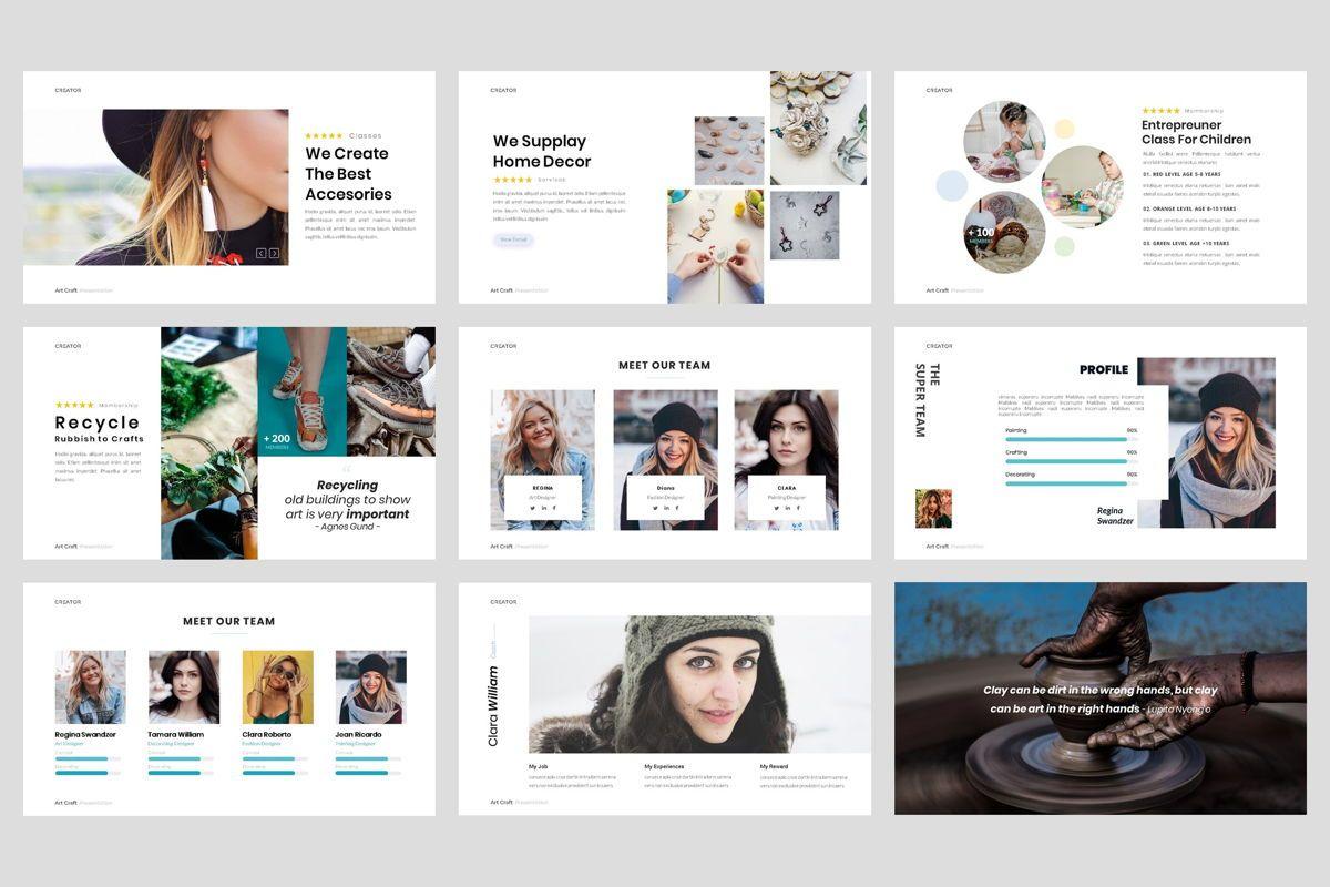 Creator - Art Craft PowerPoint Template, Slide 3, 04449, Business Models — PoweredTemplate.com