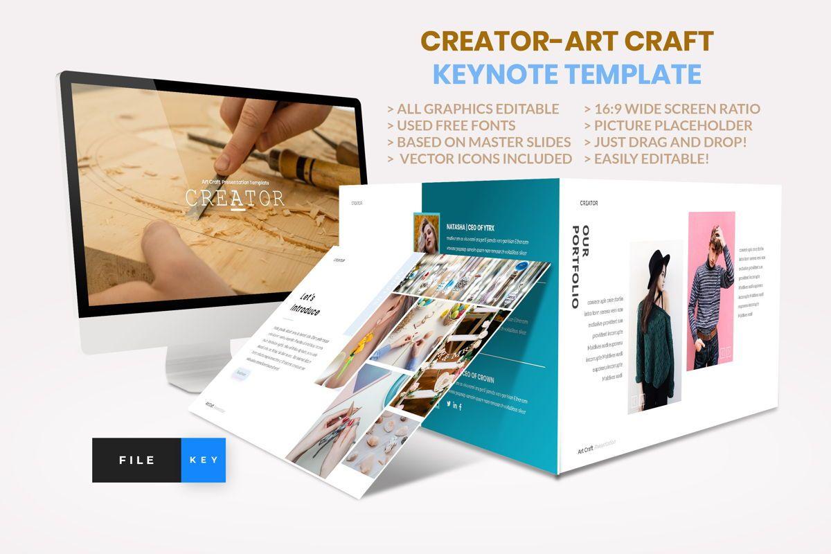 Creator - Art Craft Keynote Template, 04450, Business Models — PoweredTemplate.com