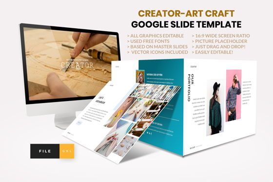 Business Models: Creator - Art Craft Google Slide Template #04451