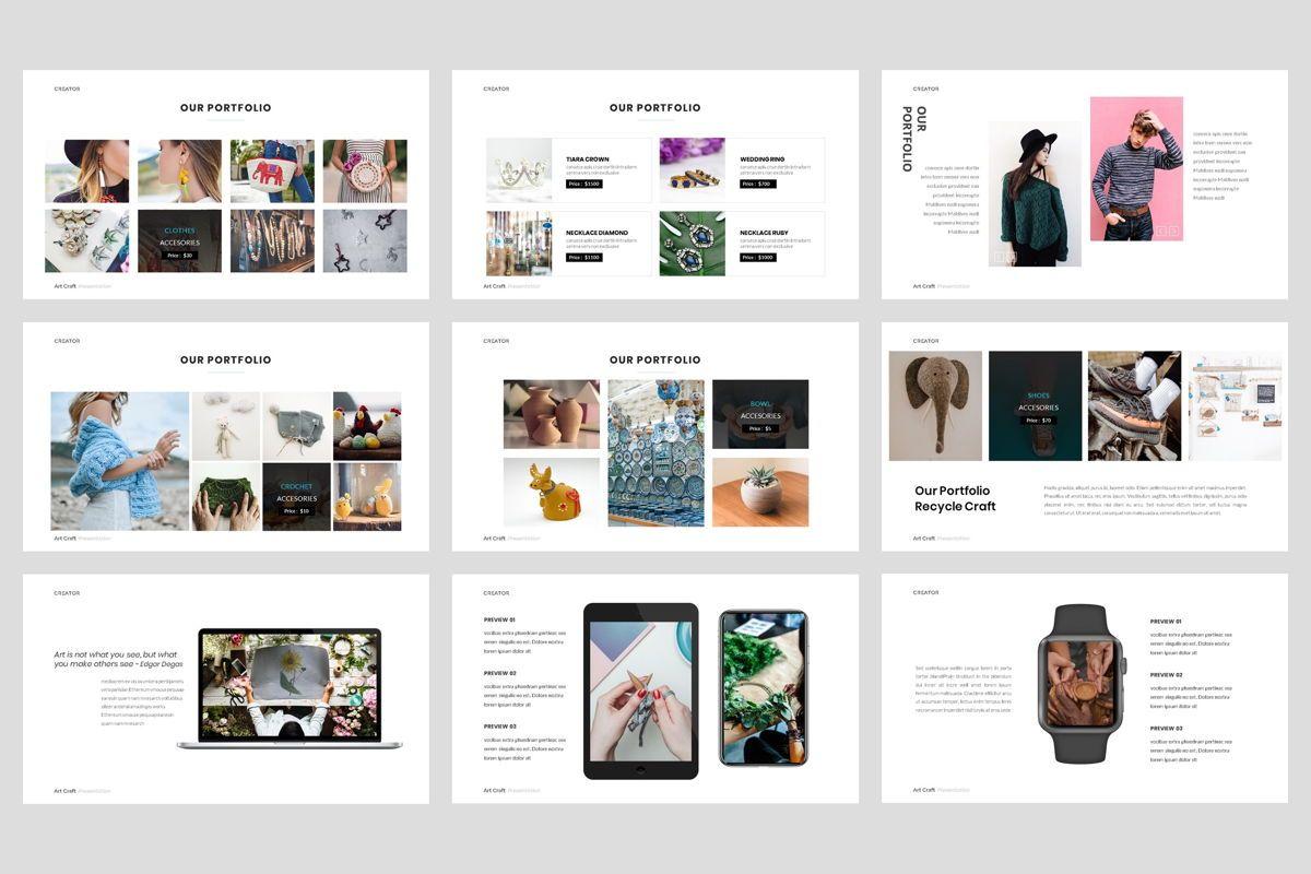 Creator - Art Craft Google Slide Template, Slide 4, 04451, Business Models — PoweredTemplate.com