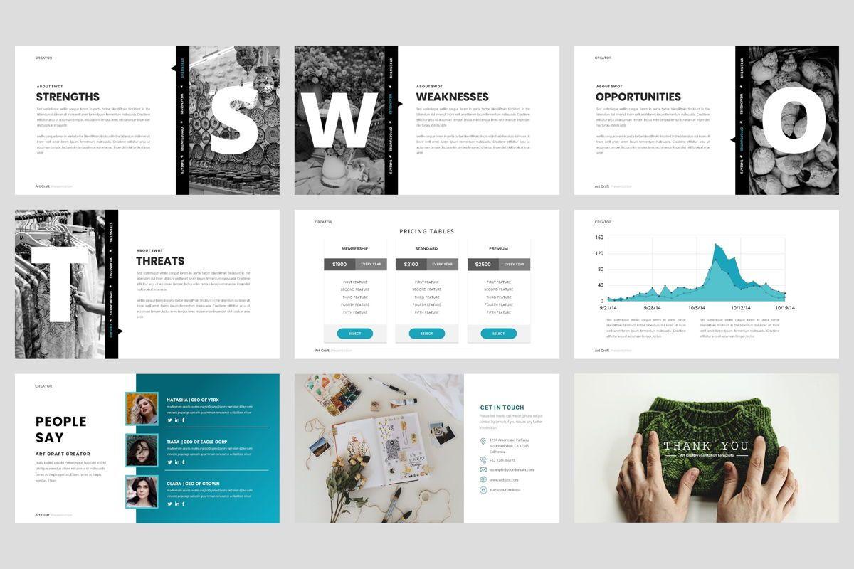 Creator - Art Craft Google Slide Template, Slide 5, 04451, Business Models — PoweredTemplate.com