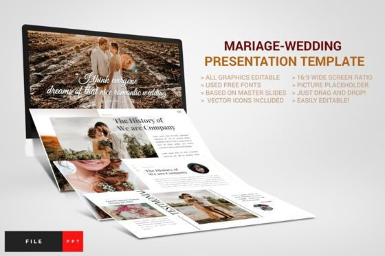 Business Models: Mariage - Wedding PowerPoint Template #04452