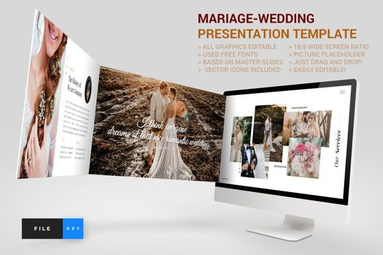 Business Models: Mariage - Wedding Google Slide Template #04454