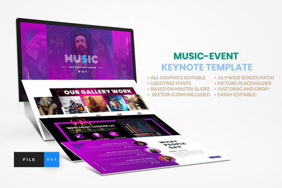 Business Models: Music - Event Keynote Template #04456