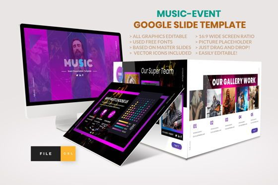 Business Models: Music - Event Google Slide Template #04457