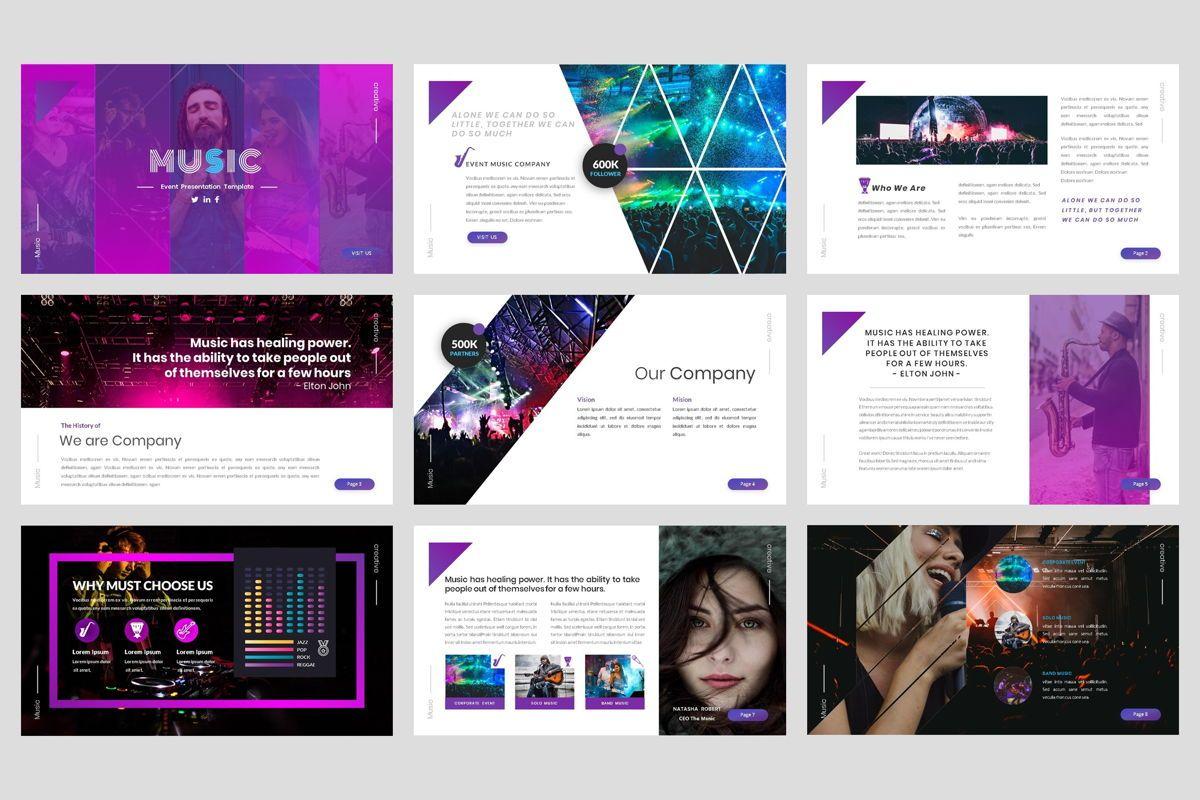 Music - Event Google Slide Template, Slide 2, 04457, Business Models — PoweredTemplate.com