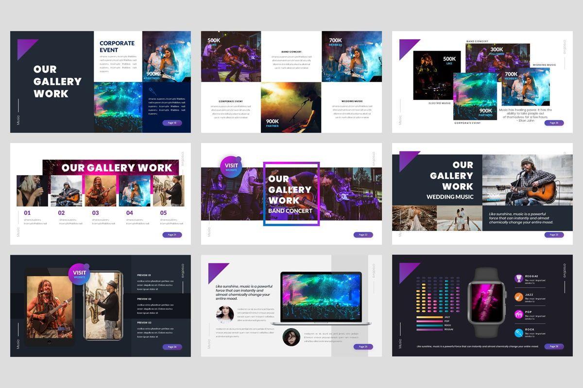Music - Event Google Slide Template, Slide 4, 04457, Business Models — PoweredTemplate.com