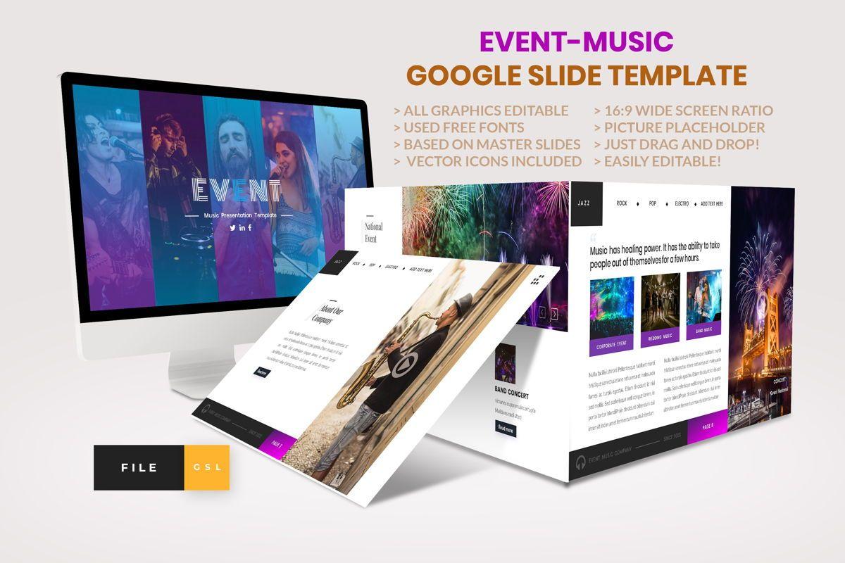 Event - Music Google Slide Template, 04460, Business Models — PoweredTemplate.com