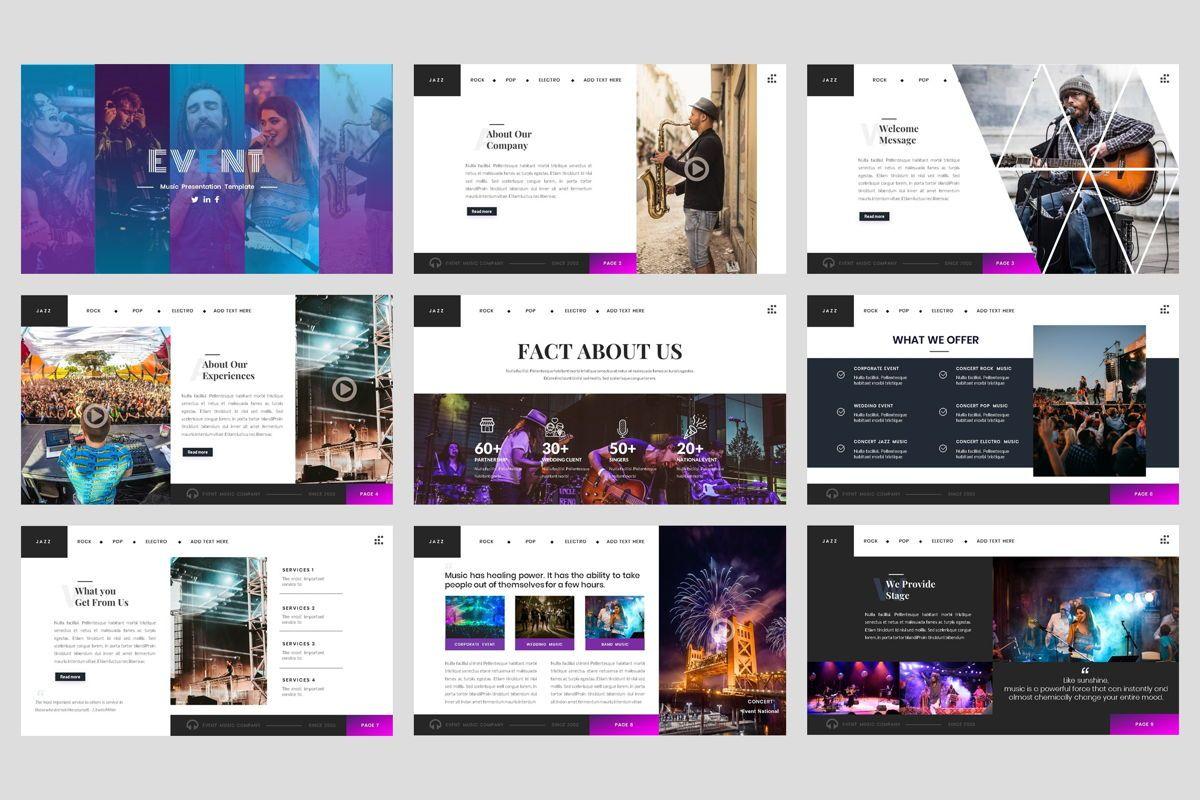Event - Music Google Slide Template, Slide 2, 04460, Business Models — PoweredTemplate.com