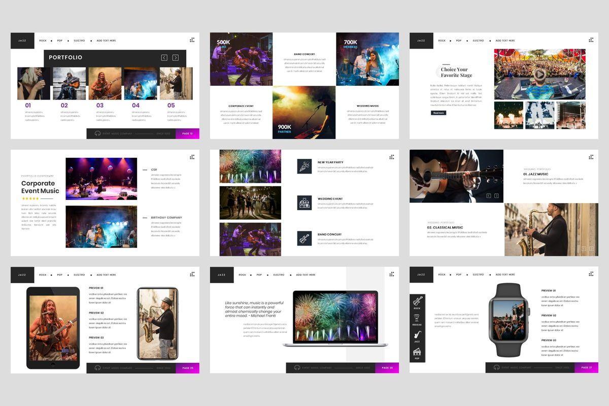 Event - Music Google Slide Template, Slide 4, 04460, Business Models — PoweredTemplate.com
