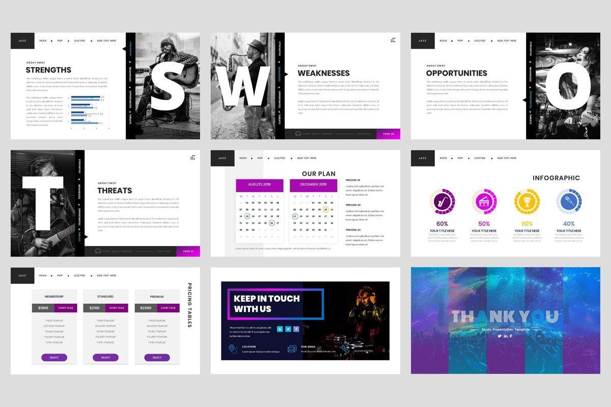 Event - Music Google Slide Template, Slide 5, 04460, Business Models — PoweredTemplate.com