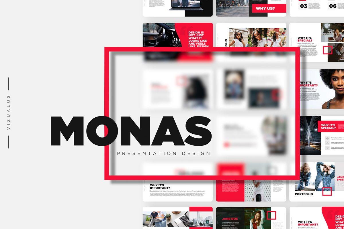 Monas PowerPoint Template Sleek Bold Presentation Design, 04468, Icons — PoweredTemplate.com
