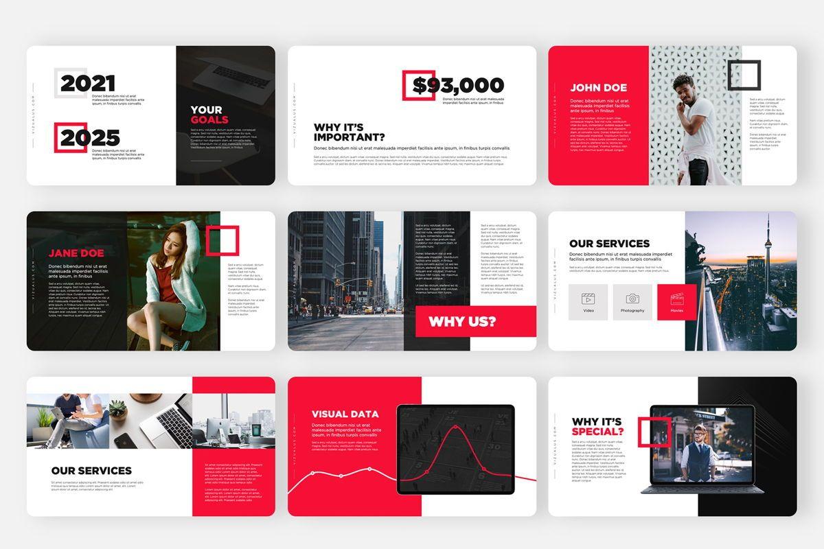 Monas PowerPoint Template Sleek Bold Presentation Design, Slide 3, 04468, Icons — PoweredTemplate.com
