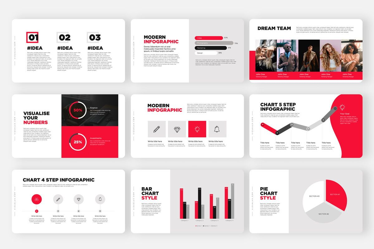 Monas PowerPoint Template Sleek Bold Presentation Design, Slide 5, 04468, Icons — PoweredTemplate.com