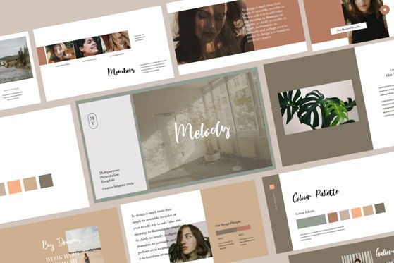 Presentation Templates: Melodi - PowerPoint Template #04475
