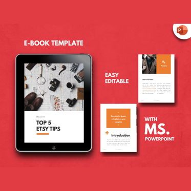 Presentation Templates: Tips eBook PowerPoint Presentation Template #04492