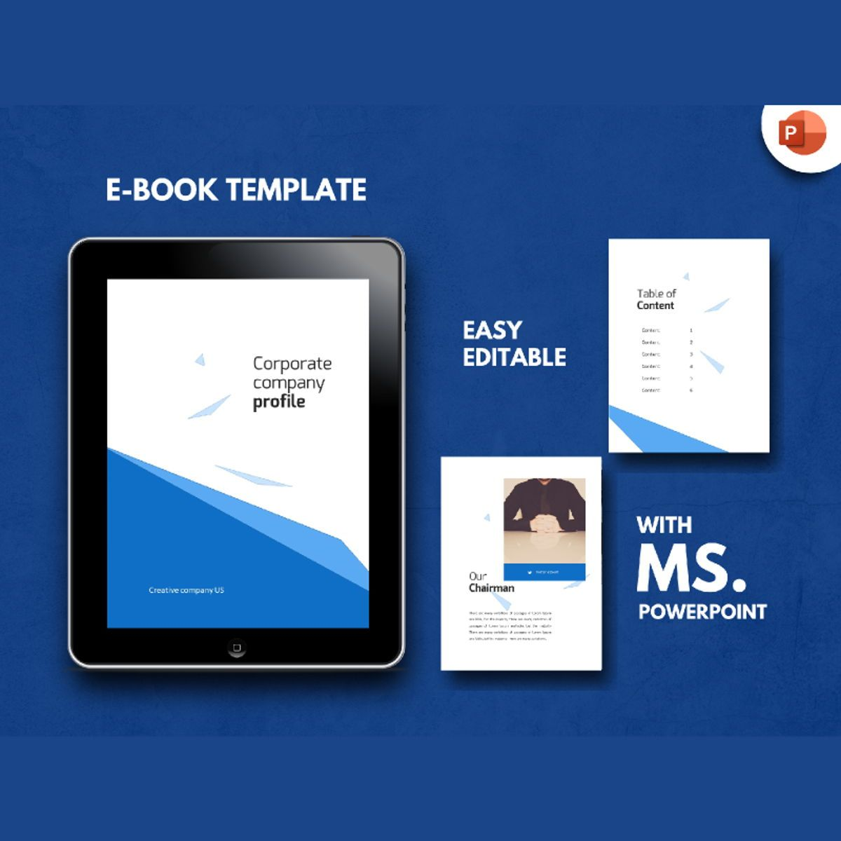 Corporate Company Profile eBook PowerPoint Presentation Template, 04493, Business Models — PoweredTemplate.com